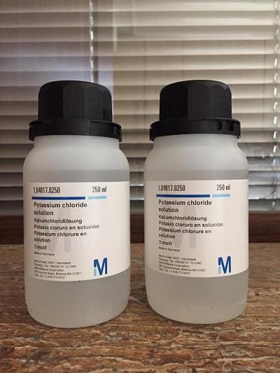 فروش محلول پتاسیم کلرید اَوِسینا شیمی